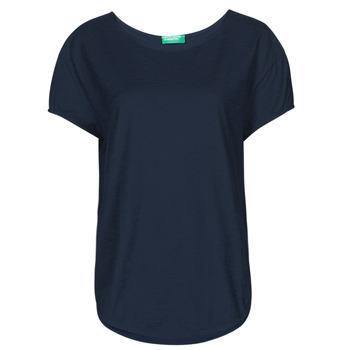 Textil Ženy Trička s krátkým rukávem Benetton 3BVXE19E6-016 Modrá