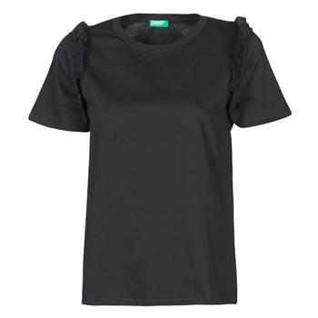 Textil Ženy Trička s krátkým rukávem Benetton MARIELLA Černá