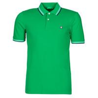 Textil Muži Polo s krátkými rukávy Benetton 3WG9J3181-108 Zelená