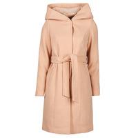 Textil Ženy Kabáty Vero Moda VMCALALYON HOOD 3/4 JACKET GA Růžová