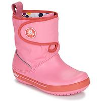 Boty Děti Zimní boty Crocs CROCBAND ll.5 GUST BOOT KIDS PLEM PPY Růžová