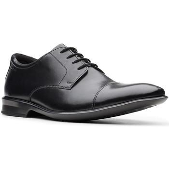 Boty Muži Šněrovací polobotky  & Šněrovací společenská obuv Clarks Bensley Cap Černá