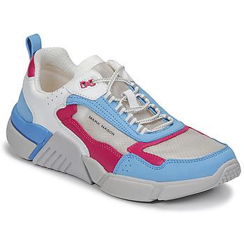 Boty Ženy Nízké tenisky Skechers BLOCK/WEST Bílá / Modrá / Růžová