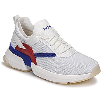 Boty Ženy Nízké tenisky Skechers SPLIT/OVERPASS Bílá / Modrá / Červená