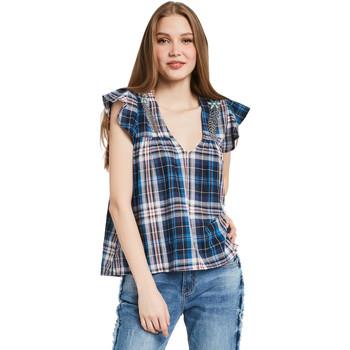 Textil Ženy Halenky / Blůzy Gaudi 011BD45007 Modrý