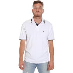 Textil Muži Polo s krátkými rukávy Les Copains 9U9021 Bílý