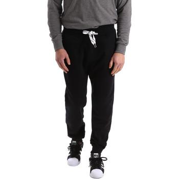 Textil Muži Teplákové kalhoty Key Up 2F37I 0001 Černá