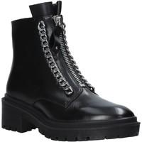 Boty Ženy Kotníkové boty Apepazza F0COMBAT10/LEA Černá