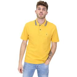 Textil Muži Polo s krátkými rukávy Les Copains 9U9022 Žlutá
