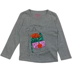 Textil Dívčí Trička s dlouhými rukávy Losan 026-1201AL Šedá