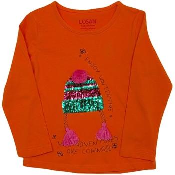 Textil Děti Trička s dlouhými rukávy Losan 026-1201AL Oranžový