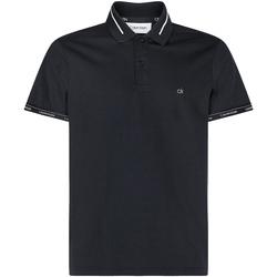 Textil Muži Polo s krátkými rukávy Calvin Klein Jeans K10K105580 Černá