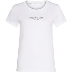 Textil Ženy Trička s krátkým rukávem Calvin Klein Jeans J20J214232 Bílý