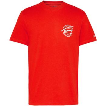 Textil Muži Trička s krátkým rukávem Tommy Jeans DM0DM08350 Červené