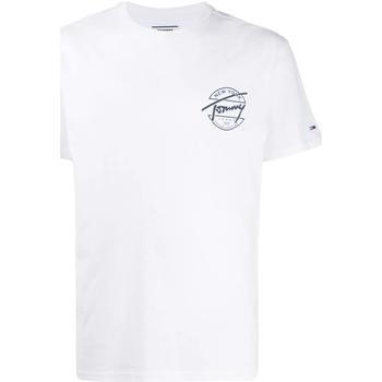 Textil Muži Trička s krátkým rukávem Tommy Jeans DM0DM08350 Bílý
