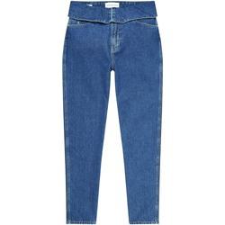 Textil Ženy Rifle rovné Calvin Klein Jeans J20J214013 Modrý