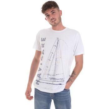 Textil Muži Trička s krátkým rukávem Navigare NV31109 Bílý
