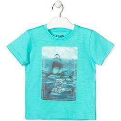 Textil Děti Trička s krátkým rukávem Losan 015-1018AL Zelený