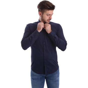 Textil Muži Košile s dlouhymi rukávy Automatic CAU22400 Modrý