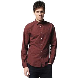 Textil Muži Košile s dlouhymi rukávy Diesel 00SVM5 0QAPE Bílý