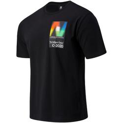 Textil Muži Trička s krátkým rukávem New Balance NBMT03529BK Černá