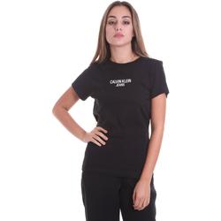 Textil Ženy Trička s krátkým rukávem Calvin Klein Jeans J20J214232 Černá