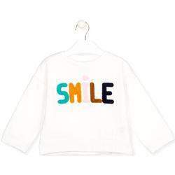 Textil Děti Trička s dlouhými rukávy Losan 026-6029AL Bílý