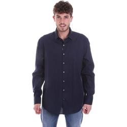 Textil Muži Košile s dlouhymi rukávy Calvin Klein Jeans K10K106040 Modrý