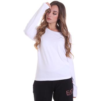 Textil Ženy Trička s dlouhými rukávy Ea7 Emporio Armani 6HTT04 TJ28Z Bílý