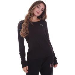 Textil Ženy Trička s dlouhými rukávy Ea7 Emporio Armani 6HTT04 TJ28Z Černá
