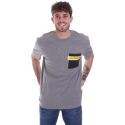 Textil Muži Trička s krátkým rukávem Calvin Klein Jeans K10K105579 Šedá