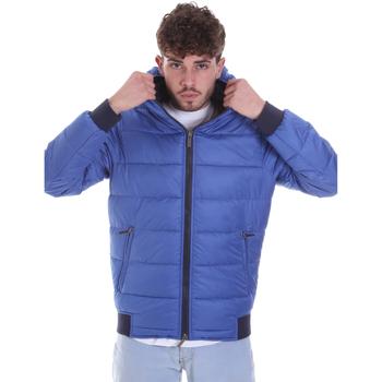 Textil Muži Prošívané bundy Gaudi 021GU35007 Modrý