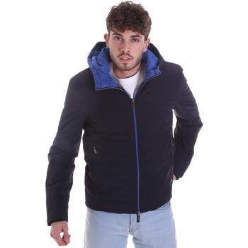 Textil Muži Prošívané bundy Gaudi 021GU35003 Modrý
