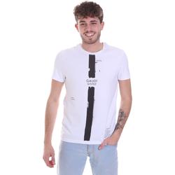 Textil Muži Trička s krátkým rukávem Gaudi 021GU64035 Bílý