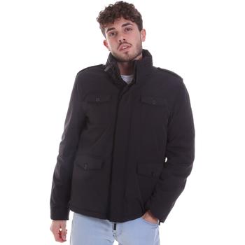 Textil Muži Prošívané bundy Gaudi 021GU35004 Černá