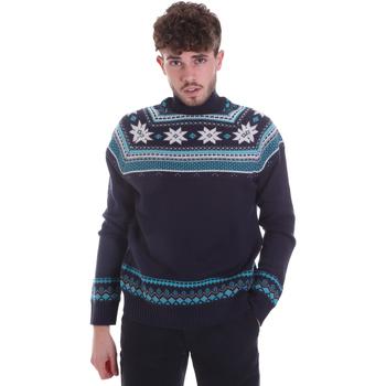 Textil Muži Svetry Gaudi 021GU53046 Modrý