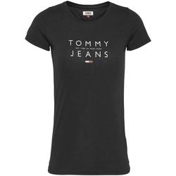 Textil Ženy Trička s krátkým rukávem Tommy Jeans DW0DW08470 Černá