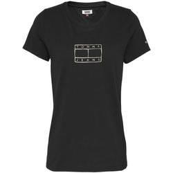 Textil Ženy Trička s krátkým rukávem Tommy Jeans DW0DW08473 Černá