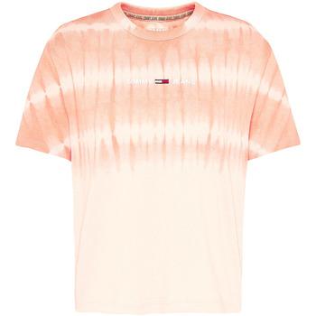 Textil Ženy Trička s krátkým rukávem Tommy Jeans DW0DW08541 Oranžový