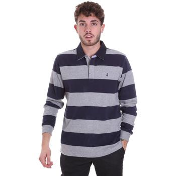 Textil Muži Polo s dlouhými rukávy Navigare NV30029 Modrý