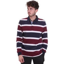 Textil Muži Polo s dlouhými rukávy Navigare NV30026 Červené