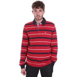 Textil Muži Polo s dlouhými rukávy Navigare NV30030 Červené