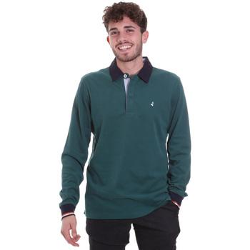 Textil Muži Polo s dlouhými rukávy Navigare NV32023 Zelený