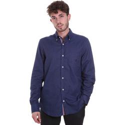 Textil Muži Košile s dlouhymi rukávy Navigare NV91135 BD Modrý