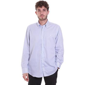 Textil Muži Košile s dlouhymi rukávy Navigare NV91111 BD Modrý