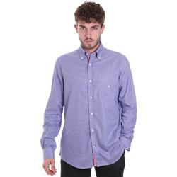 Textil Muži Košile s dlouhymi rukávy Navigare NV91133 BD Modrý