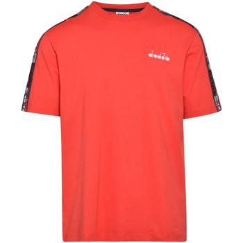 Textil Muži Trička s krátkým rukávem Diadora 502176429 Červené
