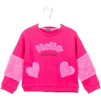 Textil Dívčí Mikiny Losan 026-6023AL Růžový