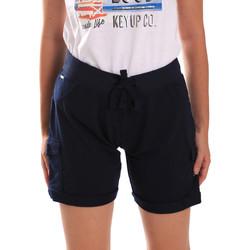 Textil Ženy Kraťasy / Bermudy Key Up 5G75F 0001 Modrý