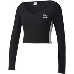 Textil Ženy Trička s dlouhými rukávy Puma 597648 Černá